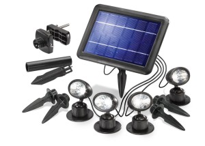 """Solarleuchten Garten – Esotec Solarspot """"Quattro-Power"""""""