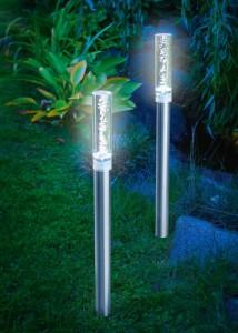 Solar Gartenleuchten – Esotec Solar Design Leuchtstäbe