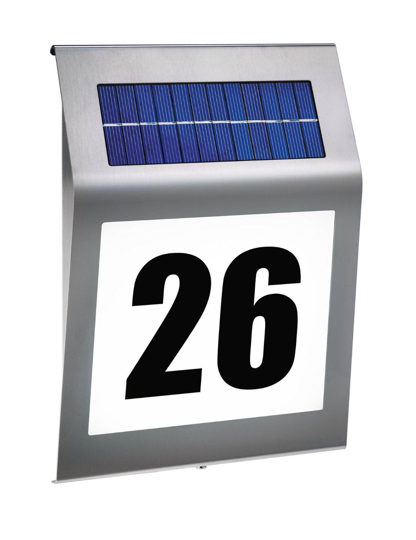 awesome hausnummer beleuchtet solar pictures. Black Bedroom Furniture Sets. Home Design Ideas