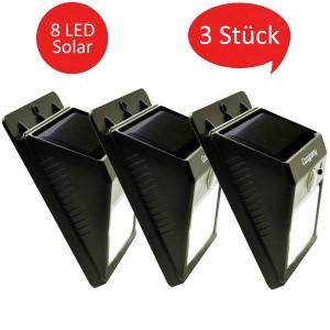 Solar Gartenleuchten – 3er Set Cozypony LED-Solarleuchten