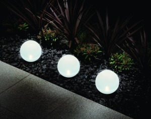 Große LED Solarlampe Solarleuchten Gartenleuchten Kugelleuchte Solarlampen außen