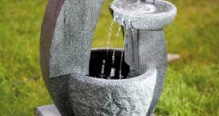 Solar Springbrunnen – Kaskadenbrunnen mit LED