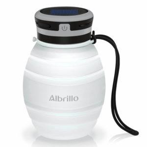Albrillo Campinglampe und Flasche