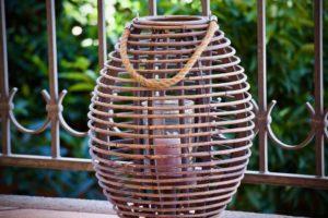Garten Rattan Lampe